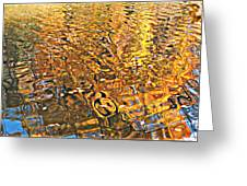 Reflections In Gold Greeting Card