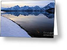 Reflections In Jackson Lake Greeting Card