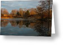 Reflections In My Favorite Pond Greeting Card