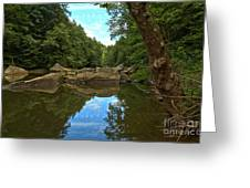 Reflections In Slippery Rock Creek Greeting Card