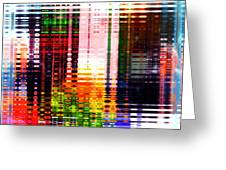 Reflections In Technicolor Greeting Card