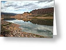 Reflections In The Blue Mesa Greeting Card