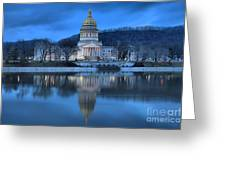 Reflections In The Kanawha River Greeting Card