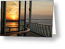 Reflections Of A Chesapeake Sunset Greeting Card