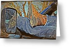 Reflections Of A Cowboy's Nap Greeting Card