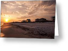 Reflections Of A Winters Sunset  Greeting Card