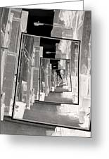 Reflections Of An Infrared Alley Greeting Card