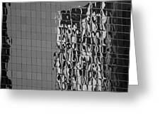 Reflections Of Architecture In Balck And White Greeting Card