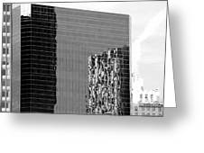 Reflections Of Architecture In Black And White Greeting Card