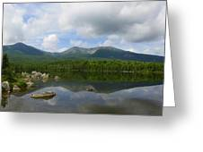 Reflections Of Katahdin At Sandy Stream Pond Greeting Card