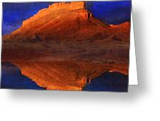 Reflections Of Miner Butte Greeting Card