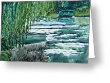 Reflections Of Monet's Pond Greeting Card