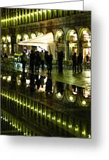 Reflections Of Saint Mark's Square-night Greeting Card
