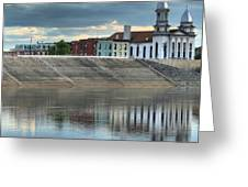 Reflections Of The Courthouse Greeting Card