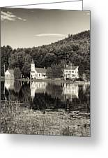 Reflections Of The Day Black And White Greeting Card