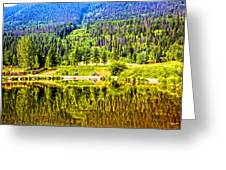 Reflections On A Summer Day - Vail - Colorado Greeting Card