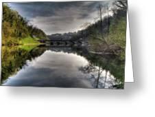 Reflections On Adda River Greeting Card