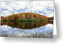 Reflections On Boley Lake Wv Greeting Card by Dick Wood