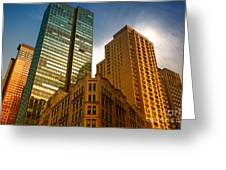 Reflections On Buildings Nyc Greeting Card