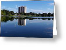 Reflections On Lake Silver Greeting Card
