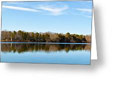 Reflections On Long Pond Greeting Card