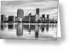 Reflections On Miami Greeting Card