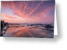 Reflections On North Jetty Dusk Greeting Card