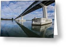 Reflections On Samoa Bridge Greeting Card