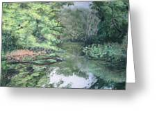 Reflections On The Valley River Greeting Card