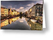 Reflections Over Ghent Greeting Card
