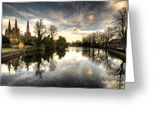 Reflections Over Lichfield Greeting Card