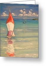 Reflections Greeting Card by The Beach  Dreamer