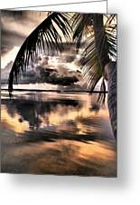 Reflections Through The Palm Greeting Card