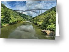 Reflections Under The Bridge Greeting Card