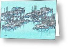 Reflective Blue Greeting Card