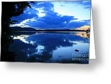 Reflective Blues On Lake Umbagog  Greeting Card