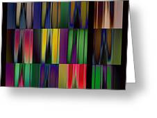 Reflective Blurs Greeting Card
