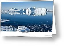 Reflective Icebergs Greeting Card by David Barringhaus