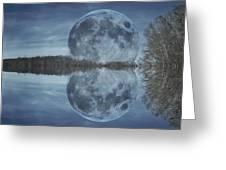 Reflective Paradise Greeting Card