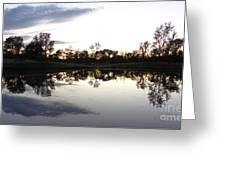 Reflective Pond Greeting Card
