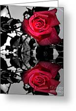 Reflective Red Rose Greeting Card