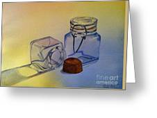 Reflective Still Life Jars Greeting Card by Brenda Brown