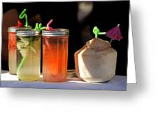 Refreshing Drinks Greeting Card