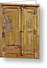 Refrigerated Boxcar Door Greeting Card