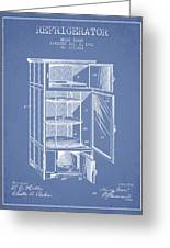 Refrigerator Patent From 1901 - Light Blue Greeting Card