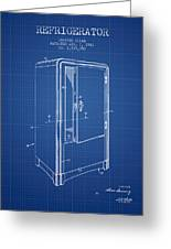 Refrigerator Patent From 1942 - Blueprint Greeting Card