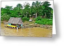 Refueling Along The Amazon River-peru  Greeting Card
