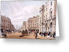 Regent Street, Looking Towards The Duke Greeting Card