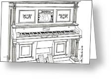 Regina Player Piano Greeting Card