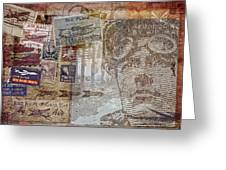 Regular Mail By Air Greeting Card
